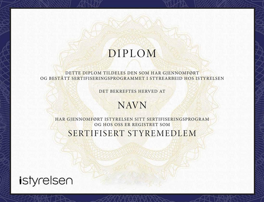 iStyrelsen Diplom uten signatur web